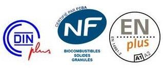 certification DINplus ENplus NF granulés de bois